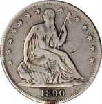 1890 Liberty Seated Half Dollar. WB-101. Fine-12 (PCGS).