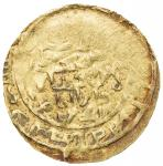 AMIR OF WAKHSH: Abu l- Abbas, 1221-1224, AV dinar (3.80g), Wakhsh, AH61x, A-E1754, about 20% flat st