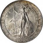 1896-B年英国贸易银元站洋一圆银币孟买铸币厂 GREAT BRITAIN. Trade Dollar, 1896-B. Bombay Mint. Victoria. PCGS MS-64 Gold