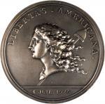 1976 Libertas Americana Medal. Modern Paris Mint Dies. Silver. 78 mm. #0321. MS-64 (NGC).