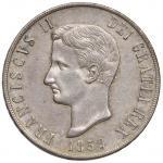 Italian coins;NAPOLI Francesco II (1859-1860) Piastra 1859 - Magliocca 809 AG (g 27.58) Minimi graff