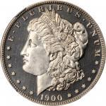 1900 Morgan Silver Dollar. Proof-65 Cameo (NGC).