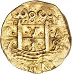 PERU. 8 Escudos, 1735-N. Philip V (1700-46). VERY FINE.