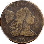 1794 Liberty Cap Cent. S-33. Rarity-6. Head of 1794. Good-6 (PCGS).