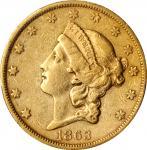1863-S自由帽双鹰金币 PCGS XF 45