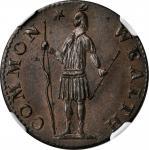 1788 Massachusetts Half Cent. Ryder 1-B, W-6010. Rarity-2. MS-64 BN (NGC).