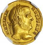 MAXIMIAN, A.D. 286-310. AV Aureus (5.33 gms), Aquileia Mint, ca. A.D. 305-306. NGC Ch AU, Strike: 5/