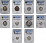SPAIN. Group of Mixed Denominations (10 Pieces), 1707-1904. All PCGS Gold Shield Certified.