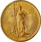 1907 Saint-Gaudens Double Eagle. Arabic Numerals. MS-66 (PCGS).