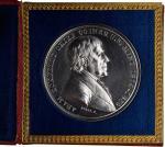 1839 Adam Eckfeldt Retirement Medal. Silver. 52 mm. Julian MT-18. Mint State, Polished.