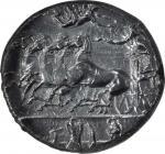 SICILY. Syracuse. Dionysios I, 406-367 B.C. AR Decadrachm (41.72 gms), ca. 405-390 B.C. NGC Ch VF, S