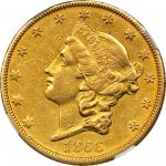 1866-S Liberty Head Double Eagle. No Motto. AU Details--Improperly Cleaned (NGC).