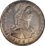 CHILE. 8 Reales, 1811-So FJ. Santiago Mint. Ferdinand VII. NGC AU-55.