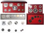 World Coins sets, consisting of: France, 1965, 1 centime to 10 francs, Bahamas, 1973, 1 cent to $10,