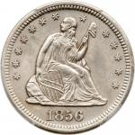 1856-S Liberty Seated Quarter Dollar. PCGS MS63