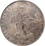 ITALY. Papal States. Scudo, 1816-B Year XVII. Bologna Mint. Pius VII. PCGS MS-64 Gold Shield.