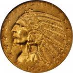 1909-O Indian Half Eagle. AU-58 (NGC).