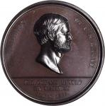 1869 Pacific Railway Completion. Bronze. 45 mm. HK-12, Julian CM-39. Rarity-5. MS-65 BN (NGC).