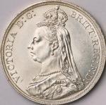 英国 (Great Britain) ヴィクトリア女王像 ジュビリーヘッド 1クラウン銀貨 1887年 KM765 / Victoria Jubilee Head 1 Crown Silver