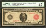 Fr. 1075b. 1914 $100  Federal Reserve Note. Cleveland. Red Seal. PMG Very Fine 25.