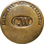 (1789) George Washington Inaugural Button. LONG LIVE THE PRESIDENT, Closely Spaced GW in Oval. Cobb-