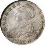 1824/4 Capped Bust Half Dollar. O-110. Rarity-2. MS-64 (PCGS).