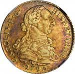 CHILE. 8 Escudos, 1790-SoDA. Charles IV (1788-1808). NGC AU-50.
