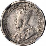 CANADA. 5 Cents, 1921. NGC Fine Details--Bent.