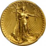 MCMVII (1907) Saint-Gaudens Double Eagle. High Relief. Flat Rim. AU Details--Cleaned (NGC).