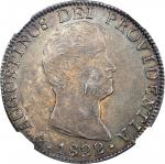 MEXICO. Empire of Iturbide. 8 Reales, 1822-JM. NGC MS-61.