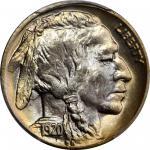 1920-D Buffalo Nickel. MS-65+ (PCGS).