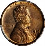 1914-S Lincoln Cent. MS-64 RB (PCGS). CAC.