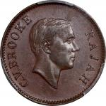 Sarawak, group of 3 coins, 1/2 cents 1933, 1 cents 1927-H and 5 cents 1913-H,raw brilliant uncircula