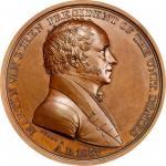 1837 Martin Van Buren Indian Peace Medal. Bronze. Second Size. First Reverse. Julian IP-18, Prucha-4