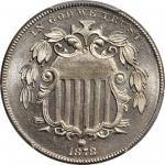 1878 Shield Nickel. Proof-66 (PCGS). CAC.