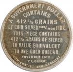 "1912 ""Wilson"" or ""Gold Basis"" Dollar. HK-813, DeLorey-68. Rarity-8. Silver. Proof."