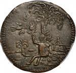 COLOMBIA. Cartagena. 1813 2 Reales. Restrepo 136.2. Copper. AU-50 (PCGS).