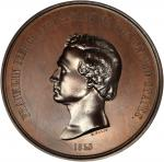 1853 Franklin Pierce Indian Peace Medal. First Size. Bronzed Copper. 76.5 mm. By Salathiel Ellis and