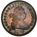 1796 Draped Bust Half Dollar. Overton-102. Rarity-5+. 16 Stars. MS-66 (PCGS).PCGS Population: