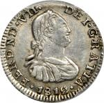 COLOMBIA. 1812-MR 1/2 Real. Santa Fe de Nuevo Reino (Bogotá) mint. Ferdinand VII (1808-1833). Restre