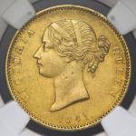 INDIA British India イギリス領インド Mohur 1841(C) NGC-AU58 EF+
