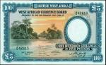 BRITISH WEST AFRICA. West African Currency Board. 100 Shillings, 1954. P-11b. PCGS Gem New 66 PPQ.