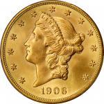 1906自由帽双鹰金币 PCGS MS 66+ 1906 Liberty Head Double Eagle