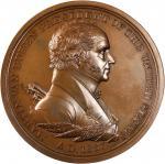 1837 Martin Van Buren Indian Peace Medal. First Size. Second Reverse. Bronzed Copper. 76 mm, rims 5.