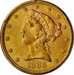 1886-S Liberty Head Half Eagle. MS-64 (PCGS).