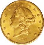 1904 Liberty Head Double Eagle. MS-64 (PCGS).
