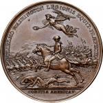 1781 William Washington at Cowpens medal. Betts-594. Copper. Original. Paris Mint. 45.8 mm, 615.8 gr