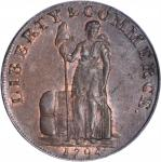 1794 Talbot, Allum & Lee Cent / Promissory Halfpenny Mule. Fuld Mule-2, W-8670. Copper. LIVERPOOL Ed