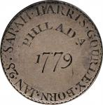 1779 Birth Announcement Engraving on a English Shilling.