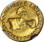 MEXICO. Escudo, 1831-Ga FS. Guadalajara Mint. NGC EF-45.